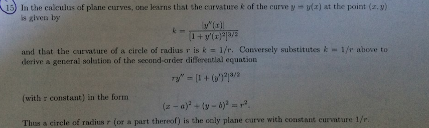 how to show curvature is 1 r 2