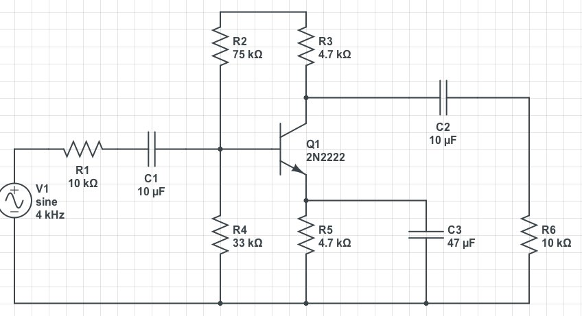 In the circuit below   VCE = 7.4V VBE