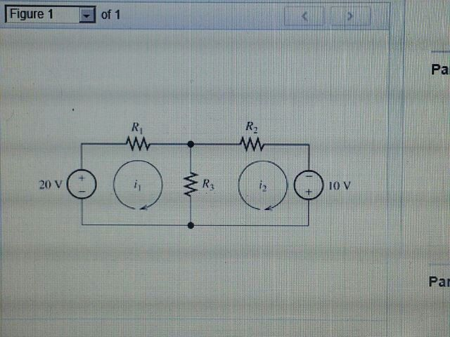 R1=7 ohms, R2=12 ohms, and R3=16 ohms determine t