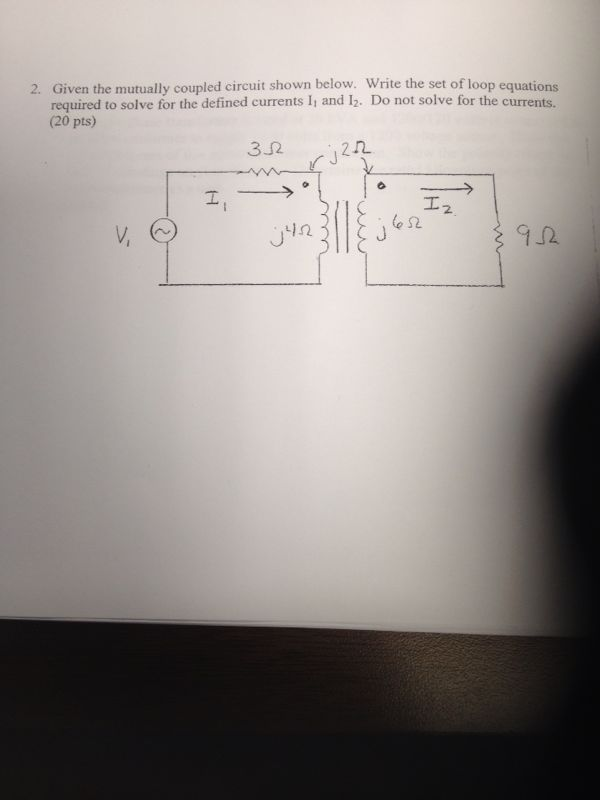 Given the mutually coupled circuit shown below. Wr