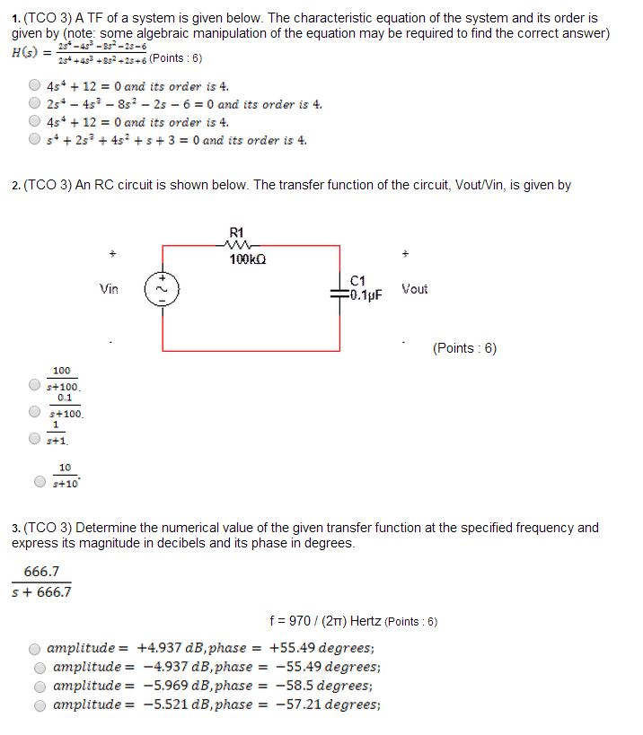 (TCO 3) A transfer function is given below. The ch