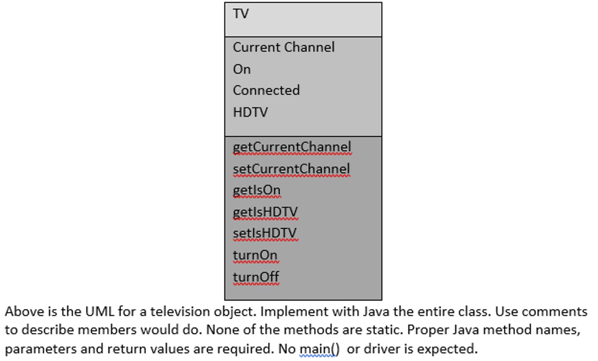 Solved above is the uml for a television object implemen above is the uml for a television object implemen pooptronica