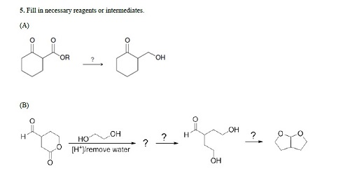 Fill in necessary reagents or intermediates.