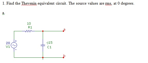 Find the Thevenin equivalent circuit. The source v