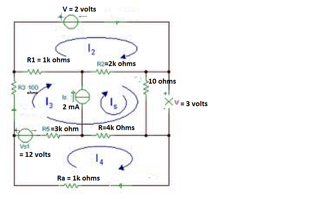 Find all currents, voltages, p