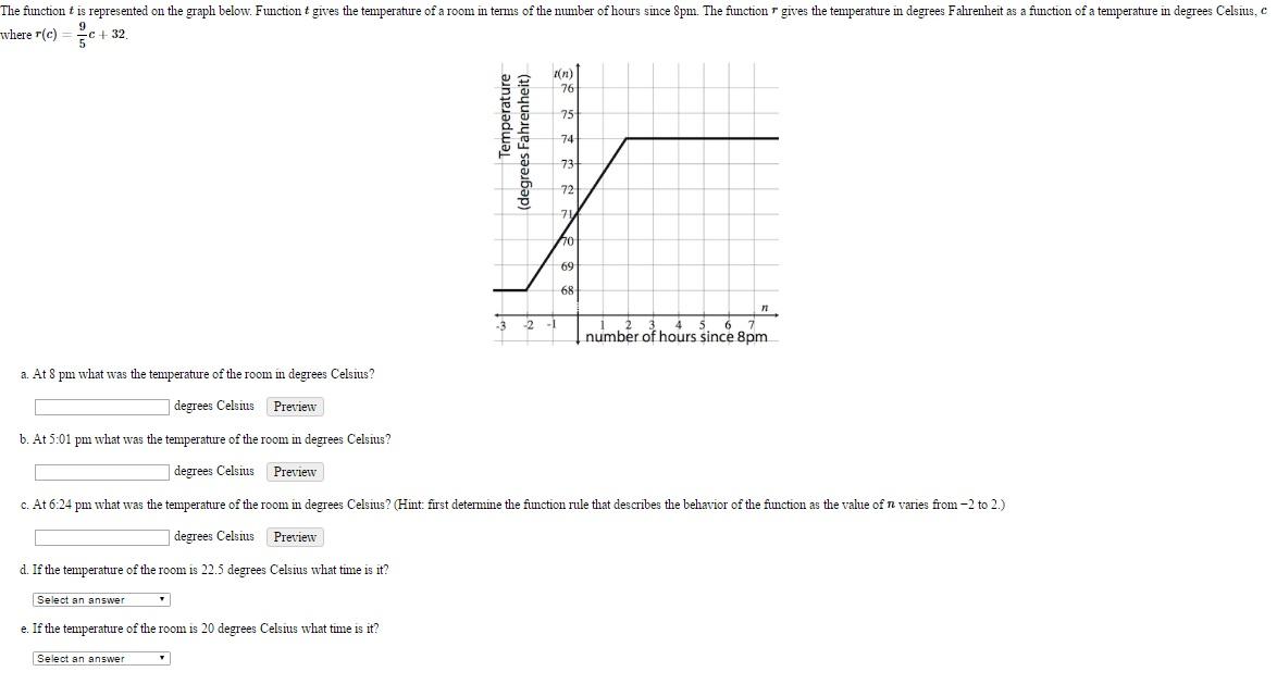 Solved: The Function T Is Represented On The Graph Below ...