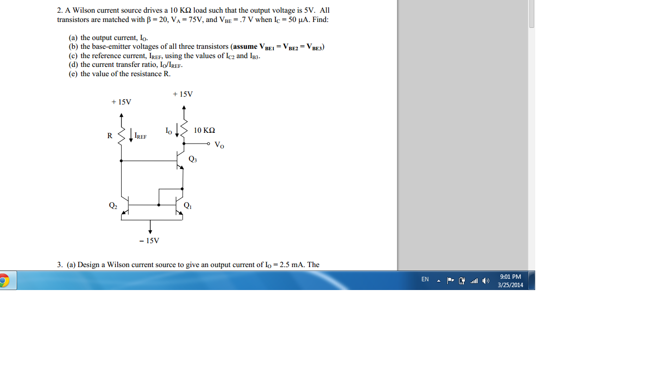 Design a base-compensated current source to give a