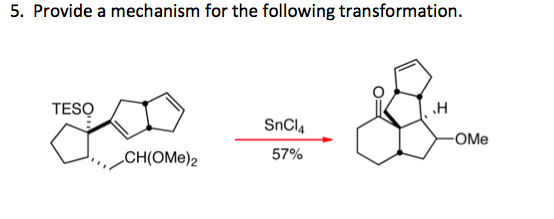 Provide a mechanism for the following transformati