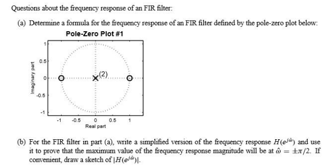 Questions about the frequency response of an FIR f