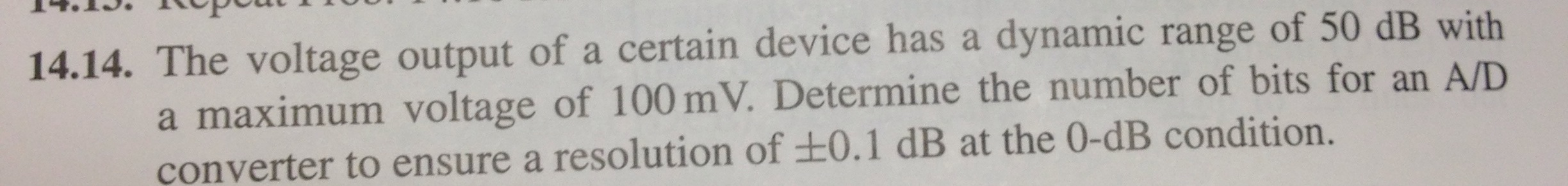 The voltage output of a certain device has a dynam