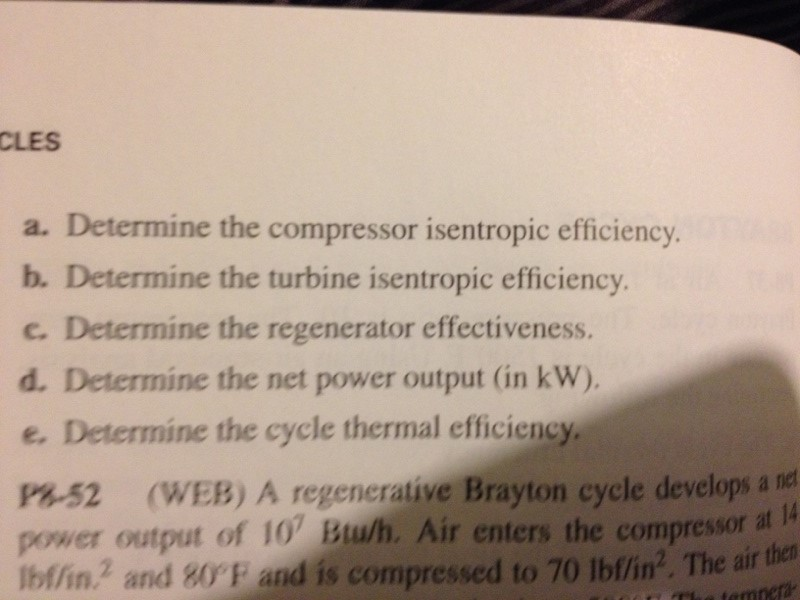 A regenerative Brayton cycle power plant was desig
