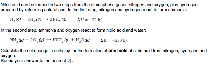 Nitric Acid Can Be Formed In Two Steps From The At... | Chegg.com