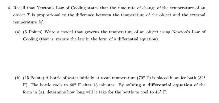 Cooling Rate Of Water At Room Temperature