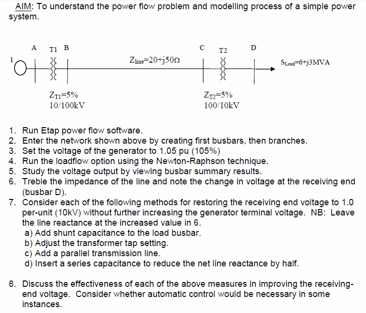 AIM: To understand the power flow problem and mode