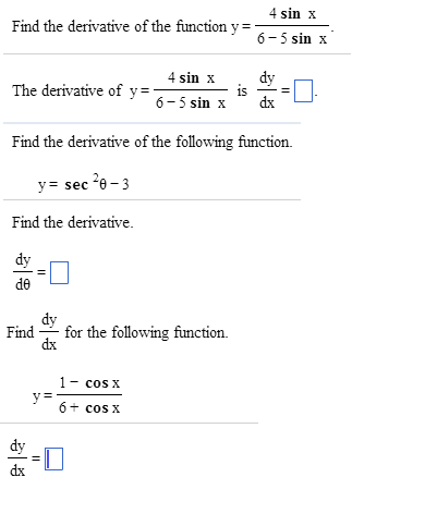how to solve y 2 sinx