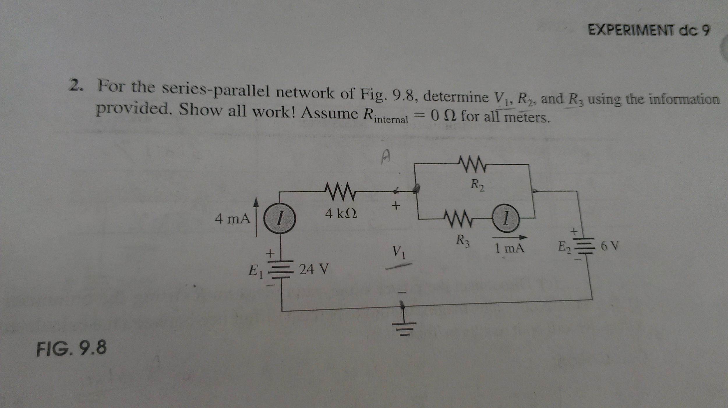 For the series-parallel network of Fig. 9.8, deter