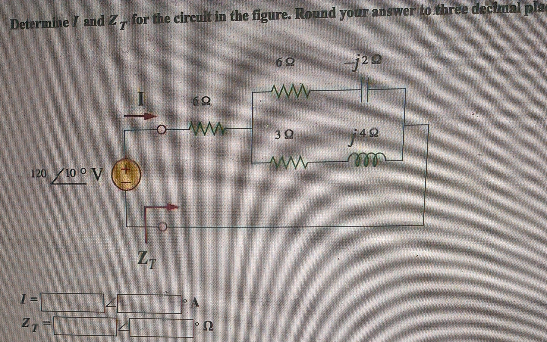 Find I0 in the circuit shown below, round final an