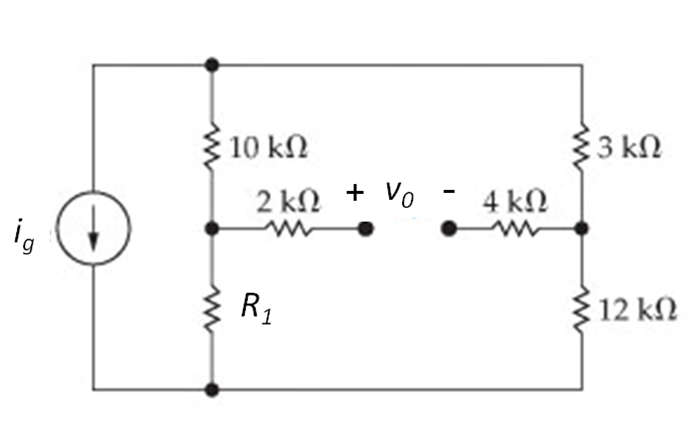 v0 is the open circuit voltage between the 2 k? an