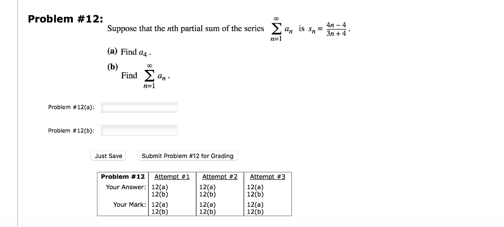 how to show partial sum
