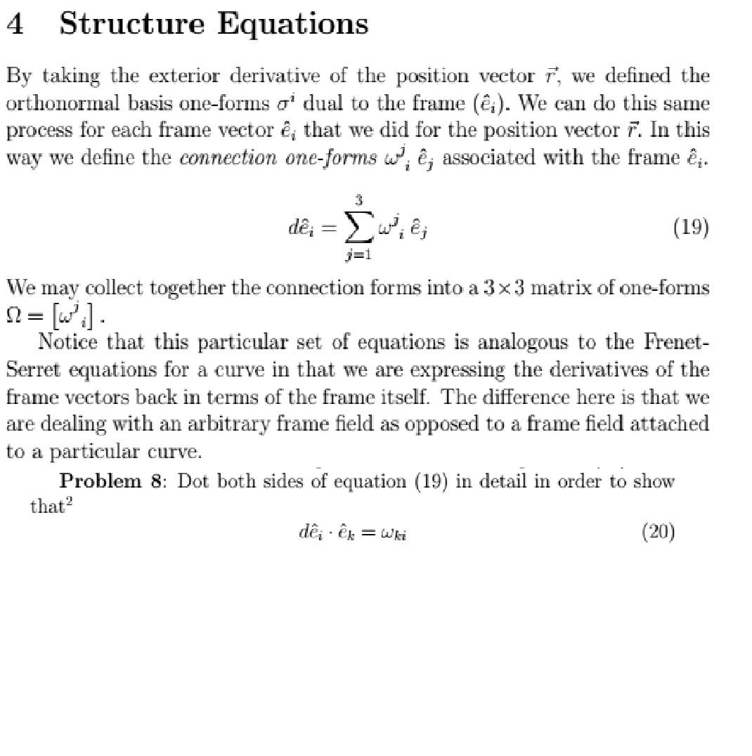 By Taking The Exterior Derivative Of The Position