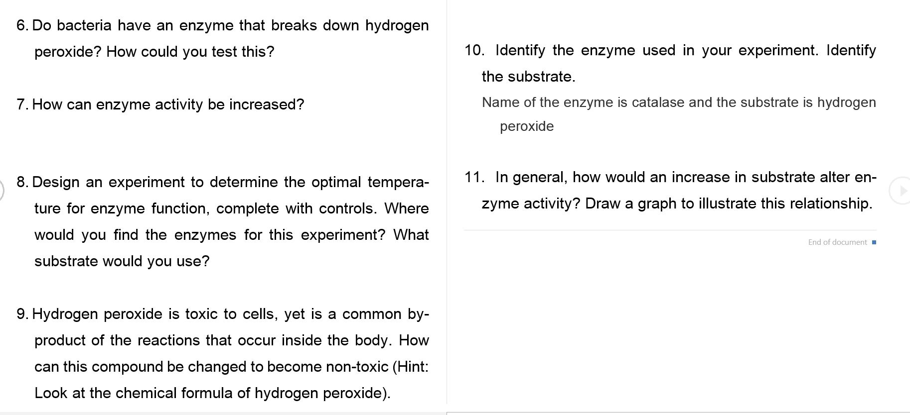 effect of temperature on hydrogen peroxide essay Hydrogen peroxide is the  are influenced by the surrounding temperature temperature has an effect on both the  how does temperature affect catalase enzyme .