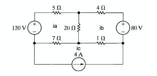 in the following circuit: a) use the mesh c