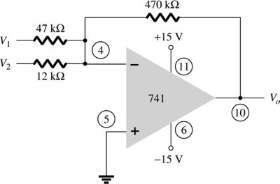 Calculate the output voltage for the circuit of Fi
