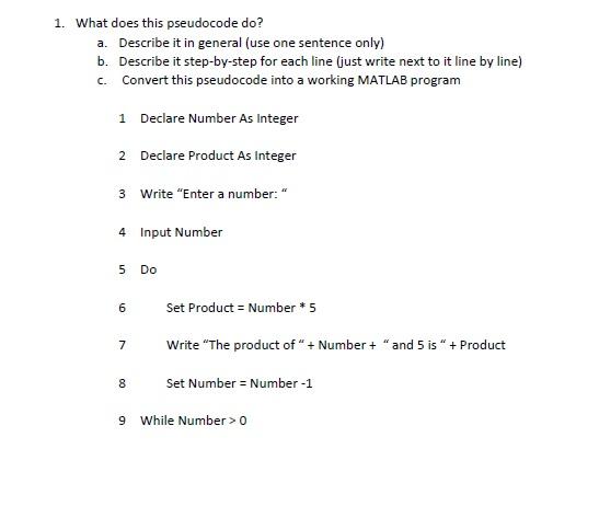 Pseudocode homework help