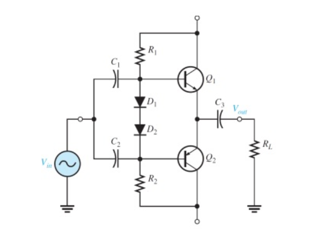 solved  consider the following class ab power amplifier  c