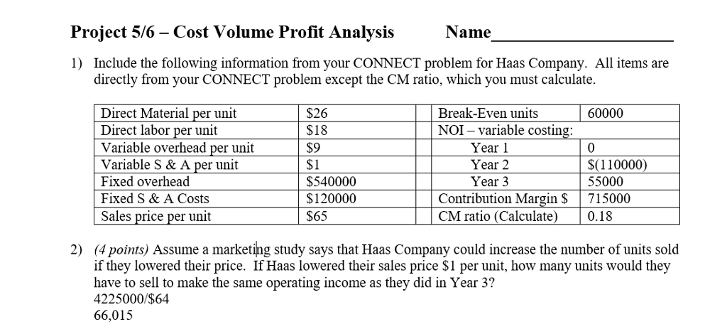 chapter 8 cost volume profit analysis answers to Chapter 3 – cost-volume-profit analysis and pricing decisions 3-3 assignment characteristics item description l o difficulty level minutes to complete bloom's.