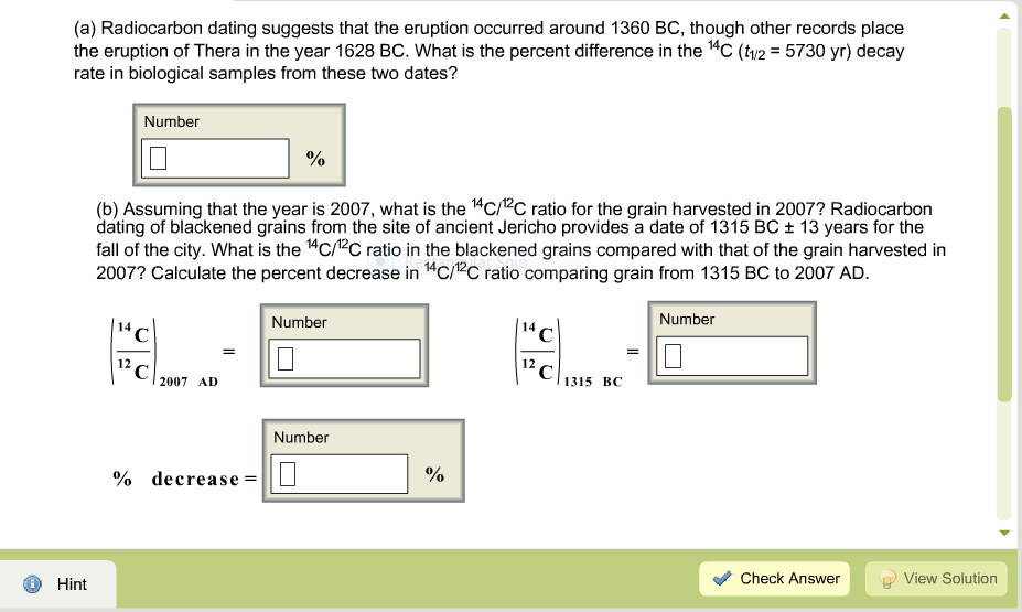 Radiocarbon dating is used to date answers.com