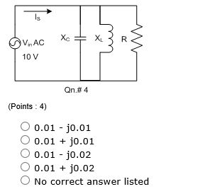 An input signal of 10V at 0degree is applied to a