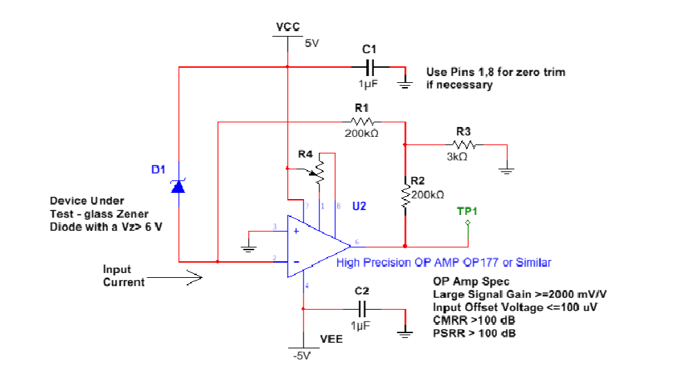 With the diode removed from the circuit the voltag