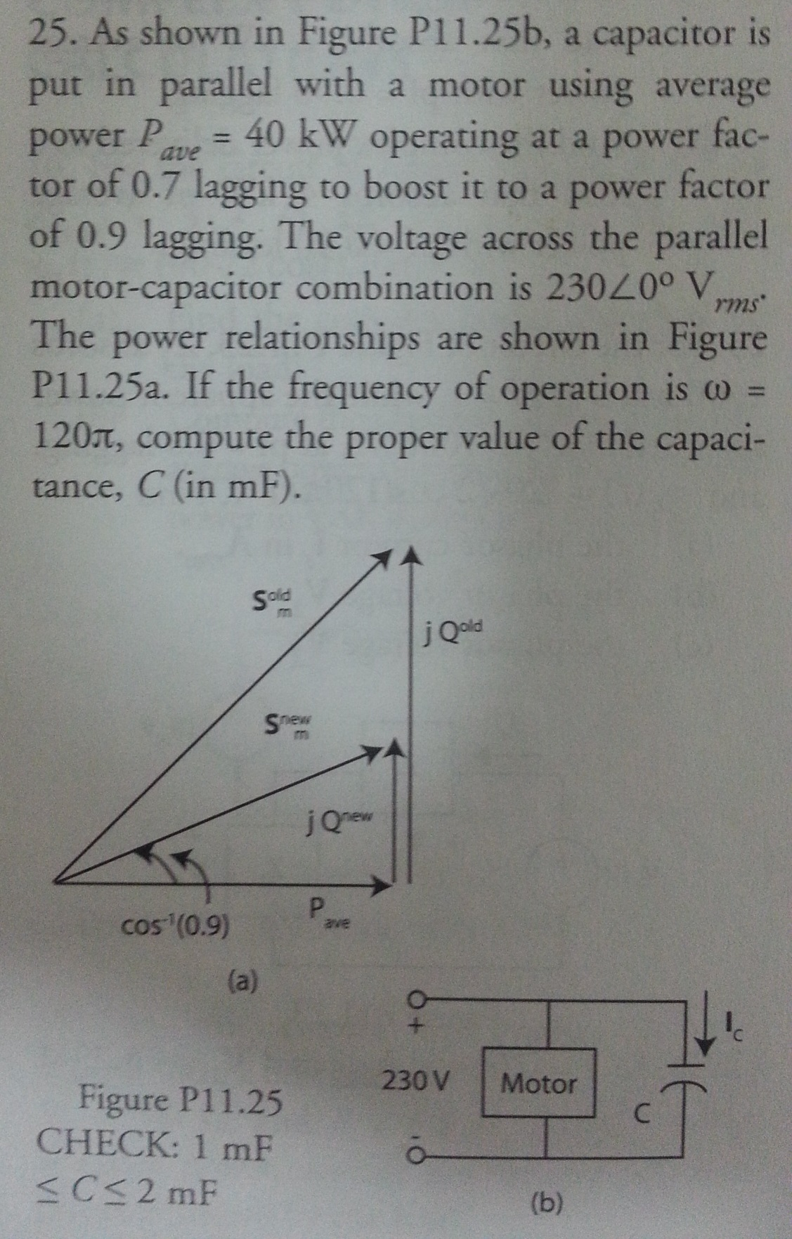 As shown in Figure P11.25b, a capacitor is put in