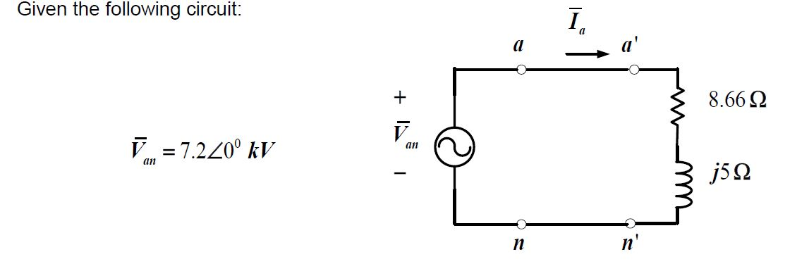 Given the following circuit Recall the ac circuit
