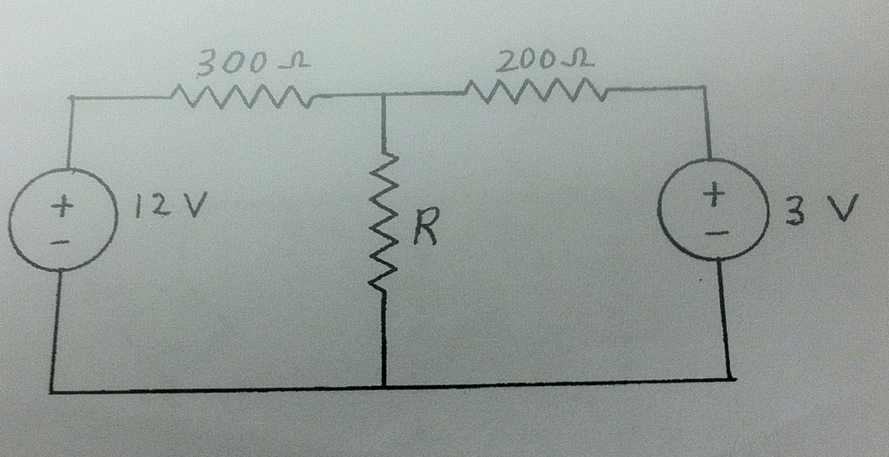 For the circuit in the figure below, find the val