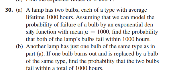 (a) A Lamp Has Two Bulbs, Each Of A Type With