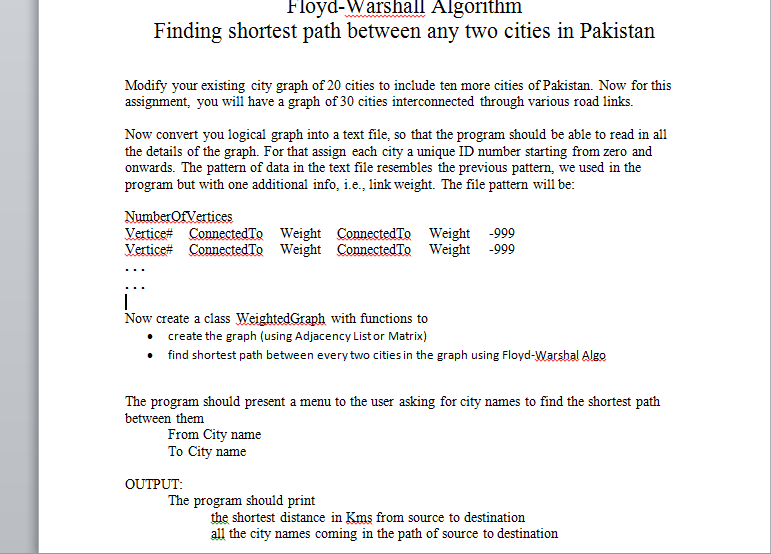 You Need To Create A Graph On A Page For Major Cheggcom - Major cities of pakistan map