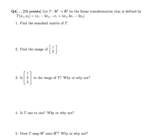 how to find the standard matrix of a linear transformation