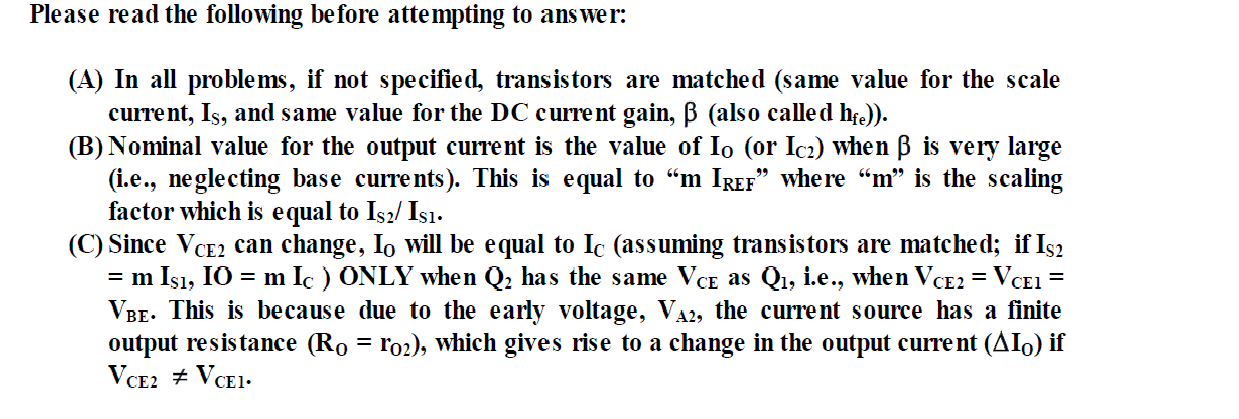 Design a simple current source to give an output c
