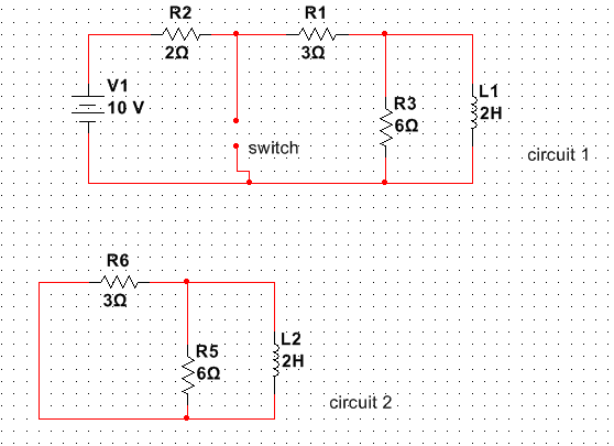 why circuit 1 becomes circuit 2 when the switch is