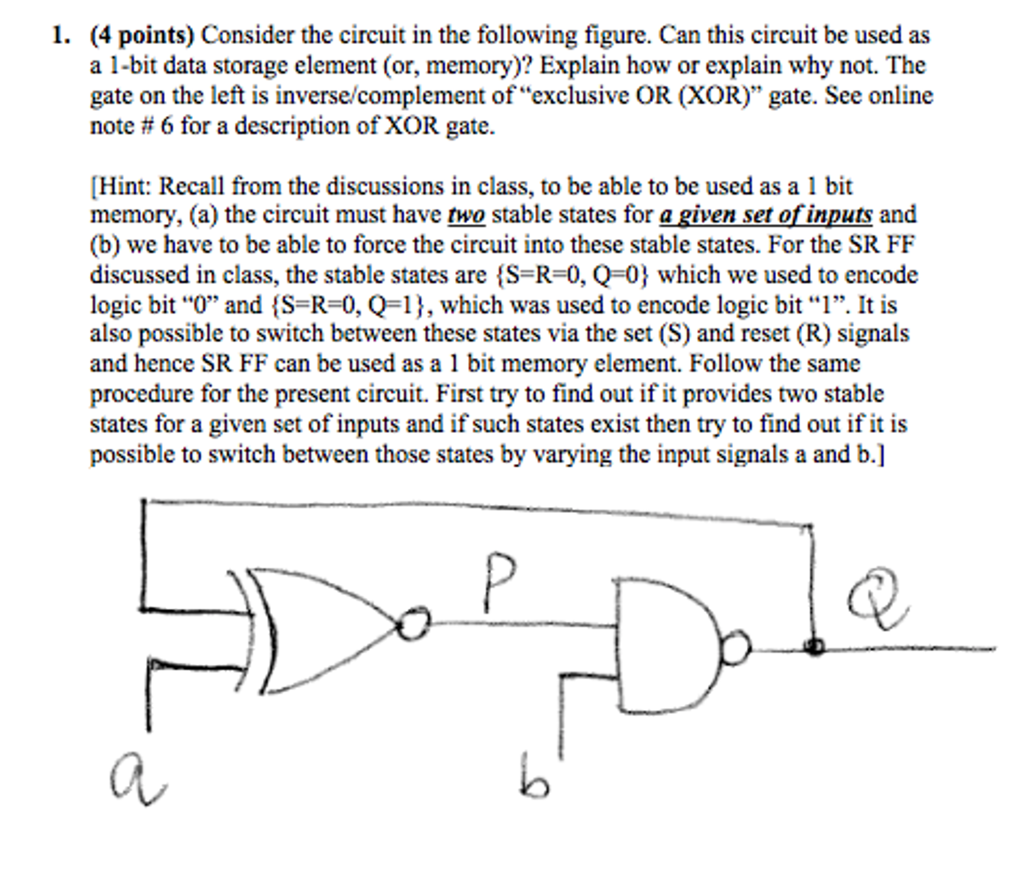 Solved: Consider The Circuit In The Following Figure. Can ...