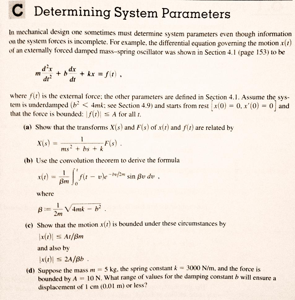 Examples Of Conditionals Determining System Parameters In Mechanical Desig How  To Find Range