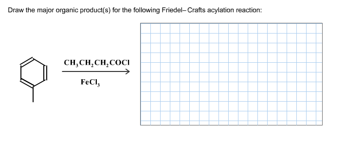Draw the major organic product(s) for the followin