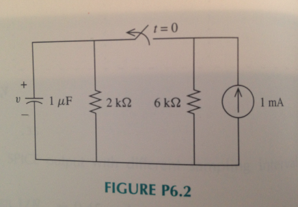 Find v(t) for t > 0. Assume that the circuit is