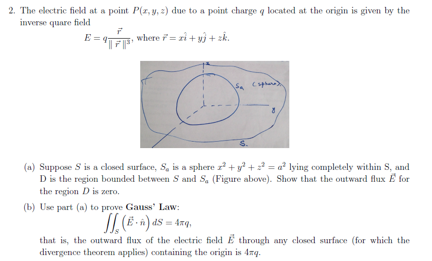 The electric field at a point P(x, y, z) due to a