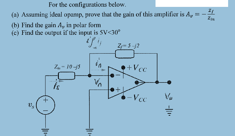 For the configurations below. Assuming ideal opam