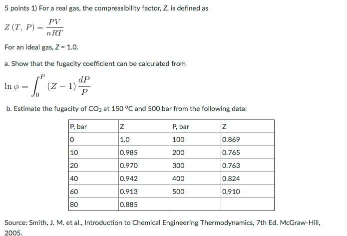 compressibility definition. 5 points 1) for a real gas, the compressibility factor, z, is definition