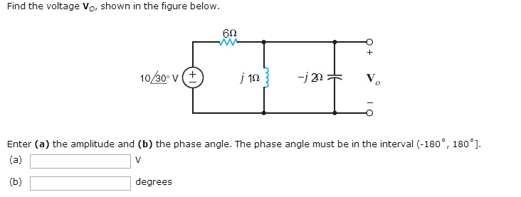 Find the voltage V0, shown in the figure below. E