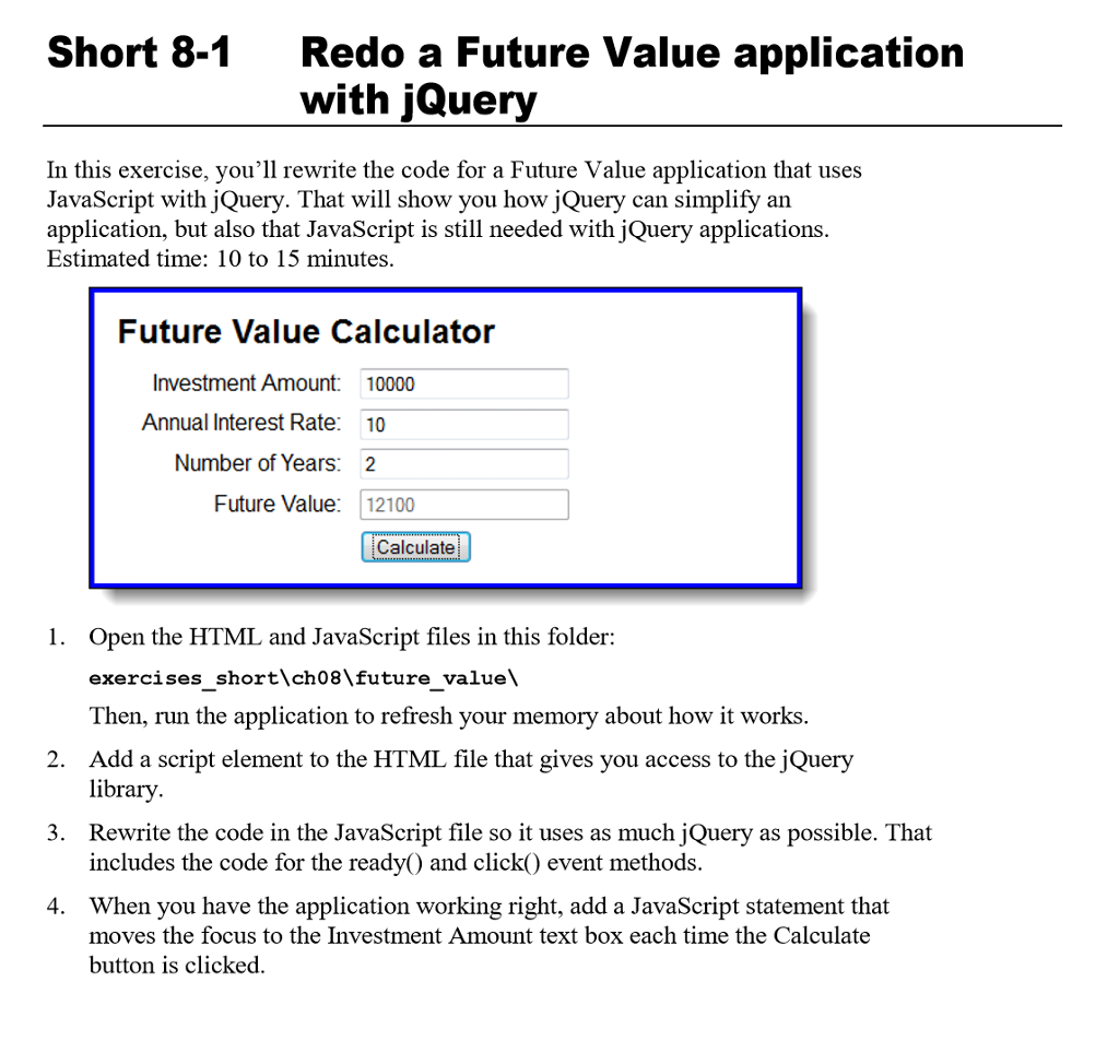 index html future value calculator future value c com short 8 1 redo a future value application jquery in this exercise youll